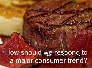 How should we respond to a major consumer trend?